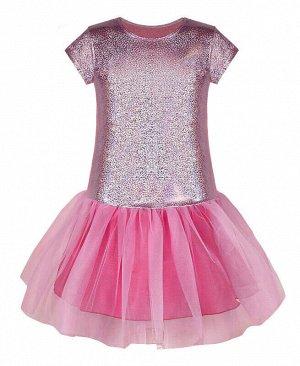 Нарядное платье для девочки Цвет: розовый