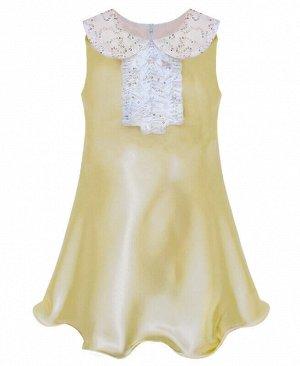 Золотистое нарядное платье для девочки Цвет: шампань+поедк.