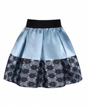 Голубая нарядная юбка для девочки Цвет: голубой