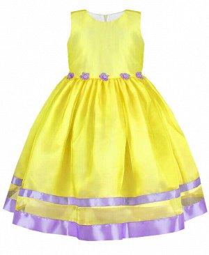 84161-ДН19 Платье р-р.104-134 Цвет: жёлтый