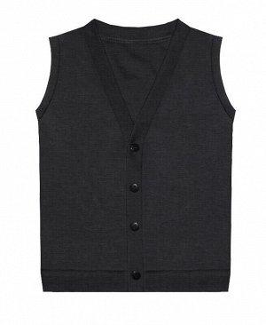Серый школьный жилет для мальчика Цвет: серый