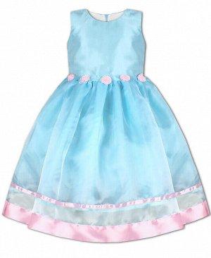 84167-ДН19 Платье р-р.104-134 Цвет: Голубой