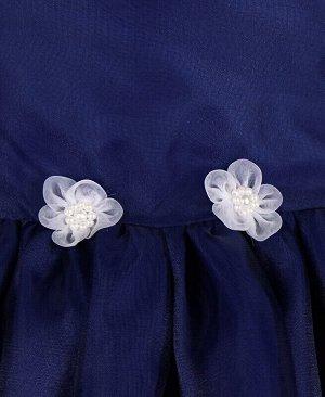 84163-ДН19 Платье р-р.104-134 Цвет: тёмно-синий