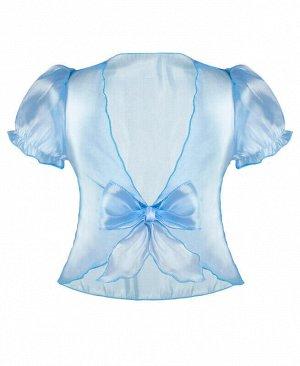 Болеро для девочки голубой, рост 110-122 Цвет: голубой