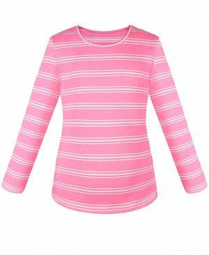 Джемпер для девочки в полоску Цвет: розовый