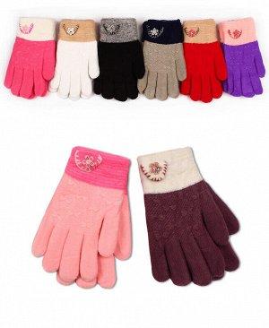 Перчатки детские для девочки Цвет: ассортимент