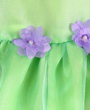 Нарядное платье для девочки Цвет: светло-зелёный