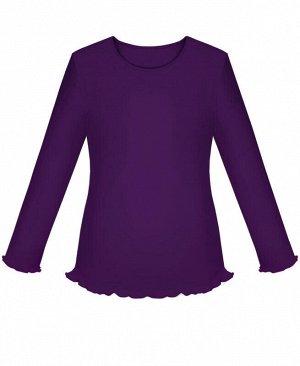 Фиолетовый школьный Джемпер (блузка) для девочки Цвет: фиолет