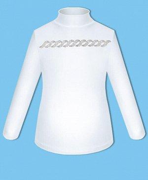 Белая школьная водолазка (блузка) для девочек Цвет: белый
