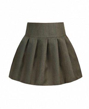 Школьная юбка для девочки Цвет: серо-бежевый