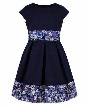 Платье для девочки синего цвета Цвет: синий