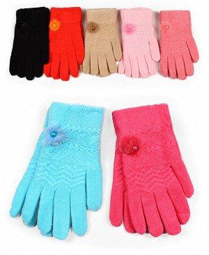 Перчатки детские для девочки,10-12 лет Цвет: оранжевый