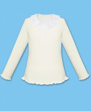 Молочный школьный джемпер для девочки Цвет: экрю