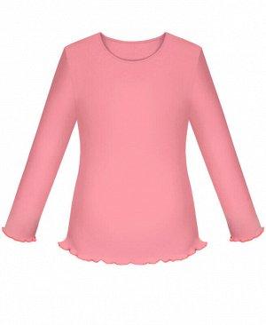 Коралловая школьная джемпер (блузка) для девочек Цвет: коралл