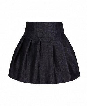Школьная тёмно-синяя юбка для девочки Цвет: тёмно-синий