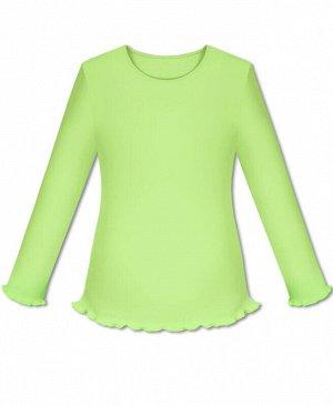 Салатовый школьный джемпер (блузка) для девочки Цвет: салатовый