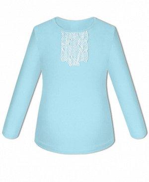 Голубая школьная блузка для девочки Цвет: голубой