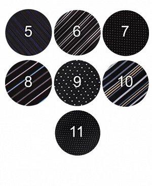 Галстук классический ассортимент Цвет: черный