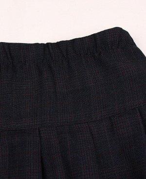 Школьная тёмно-синяя юбка для девочки в клетку Цвет: тёмно-синий