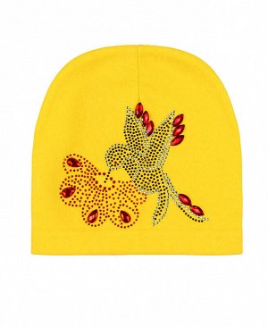 Шапка для девочки Цвет: желтый
