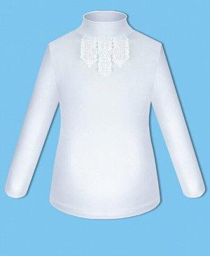 Школьная водолазка (блузка) для девочки Цвет: белый