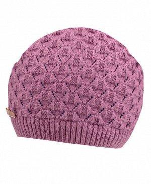 Розовая шапка для девочки Цвет: сиреневый