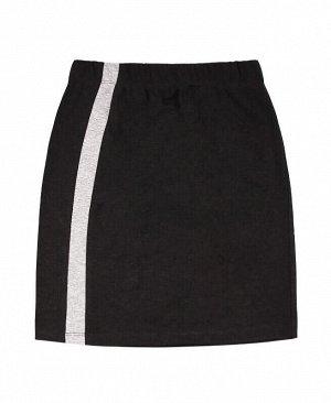 Серая юбка для девочки Цвет: тёмно-серый