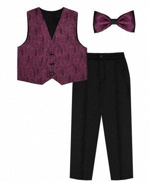Комплект нарядный для мальчика Цвет: лиловый+т.сер.полоска