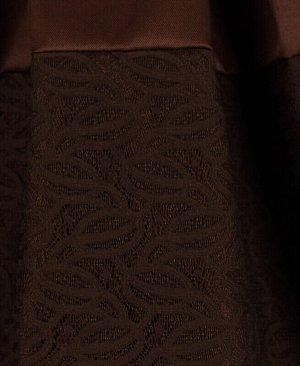Школьная коричневая юбка для девочки Цвет: коричневый