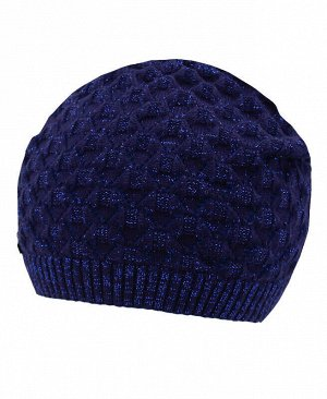 Синяя шапка для девочки Цвет: тёмно-синий