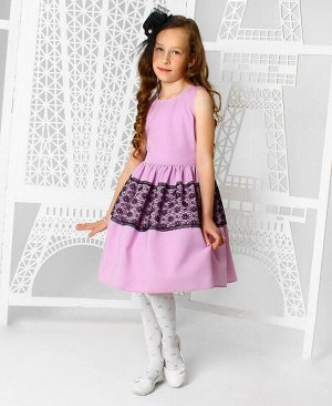 Нарядное сиреневое платье для девочки Цвет: сиреневый