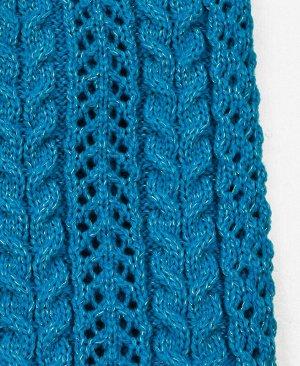 Голубая шапка для девочки Цвет: голубой