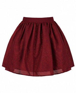 Нарядная юбка для девочки Цвет: Бордовый