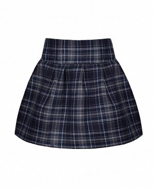 Школьная юбка для девочки в клетку Цвет: антрацит