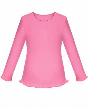 Школьный розовый джемпер (блузка) для девочки Цвет: розовый