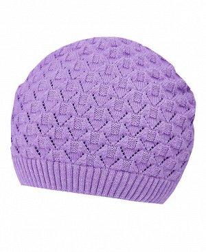 Сиреневая шапка для девочки Цвет: сиреневый