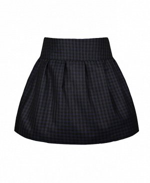 Школьная юбка для девочки в клетку Цвет: тёмно-синий