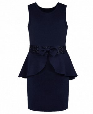 Синий сарафан школьного фасона для девочки Цвет: синий