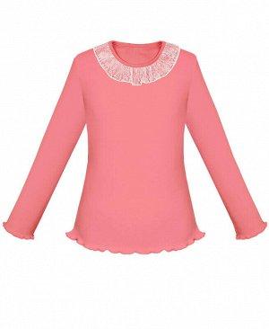 Розовый школьный джемпер (блузка) для девочки Цвет: розовый