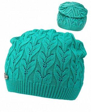 Ментоловая шапка для девочки Цвет: ментоловый
