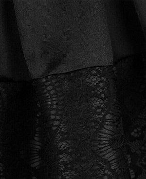 Чёрная юбка для девочки в складку Цвет: серый