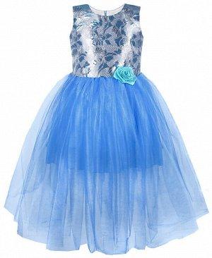 Нарядное голубое платье для девочки Цвет: голубой