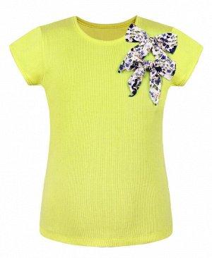 Жёлтая футболка(блузка) для девочки Цвет: жёлтый