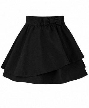 Черная юбка для девочки Цвет: черный