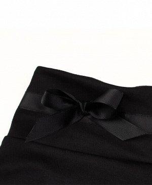 Чёрные школьные брюки для девочки Цвет: черный