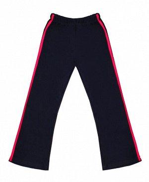 Спортивные брюки для девочки Цвет: т.син.+мал.