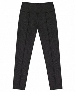 Серые школьные брюки для девочки Цвет: серый меланж
