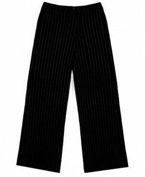 Черные школьные брюки для девочки Цвет: черная полоска