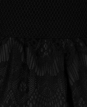 Чёрная юбка для девочки Цвет: черный