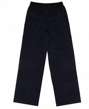 Синие школьные брюки для девочки Цвет: синий полоска